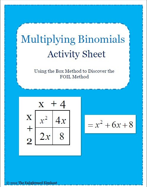 foil method activity free download