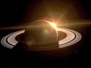 Saturn with Sun