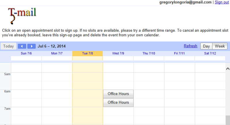 Create appointment slots in outlook