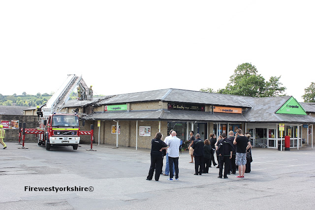 Breaking News!!! Mirfield Co-op Blaze Store Evacuated, Coop, Huddersfield road Mirfield, Mirfield Co-op blaze contained by fire crews 8th June 2013