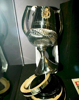 Spanish Cup trophy after the accident with Sergio Ramos