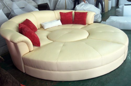 Modern Round Sectional Leather Sofa 500 x 328