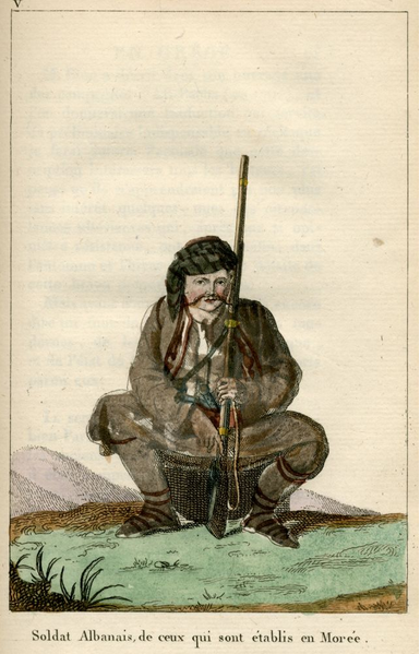 Albanian soldier from the Peloponnese