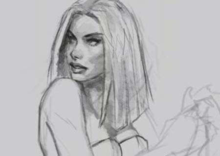 How To Draw Face Woman Emma Frost X Men Video Lessons Of Drawing