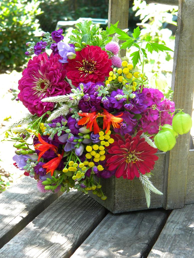 Wedding Flowers from Springwell: Summer Bouquet in Bright Jewel ...