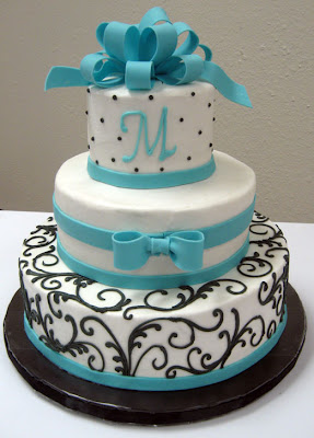 Cakes With Turquoise