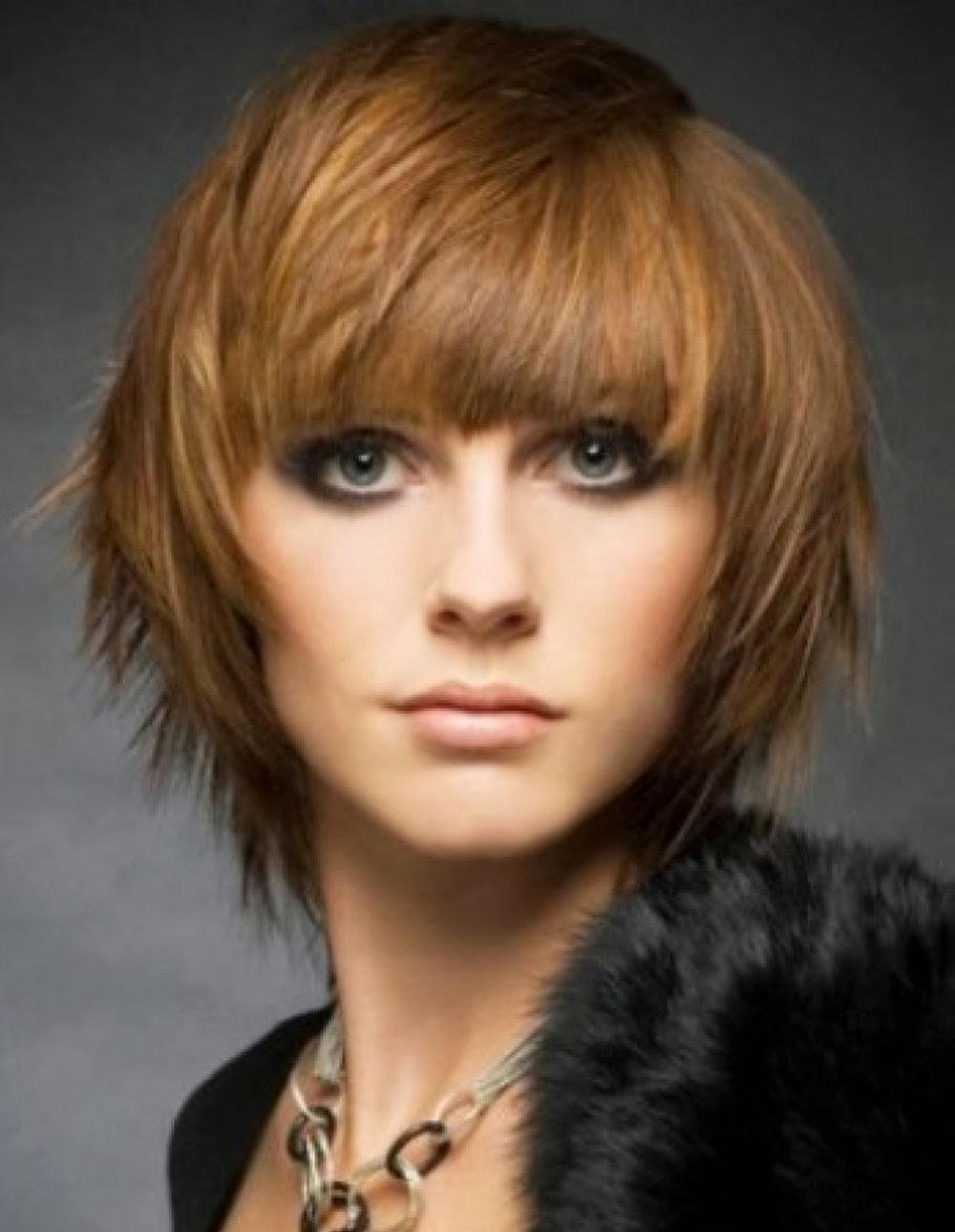 Причёска волчица на средние волосы фото с челкой