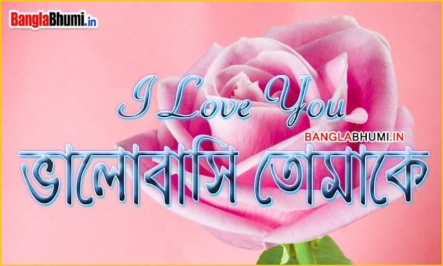 Bangla Love Wallpaper - Valobasi Tomake Photo