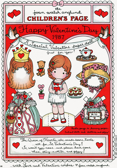 Silly eagle books printable valentine paper dolls joan walsh anglund