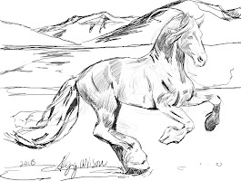 Wild Horse Running Coloring Page