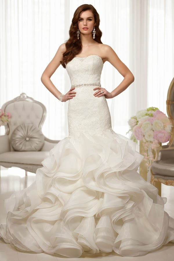 Choose your fashion style luxury real ruffled mermaid for Mermaid wedding dress with ruffles