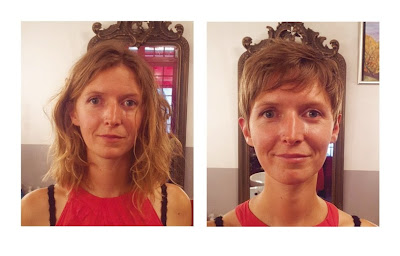 Nelly, avant et après visite au Studio 54, coiffure et couleur réalisées par Eddy, coiffeur - visagiste à Montpellier.