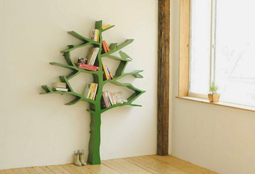 tree creative book shelves for kids - wall shelving unit