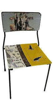 krzesło decoupage w stylu vintage