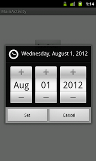 DatePicker in android