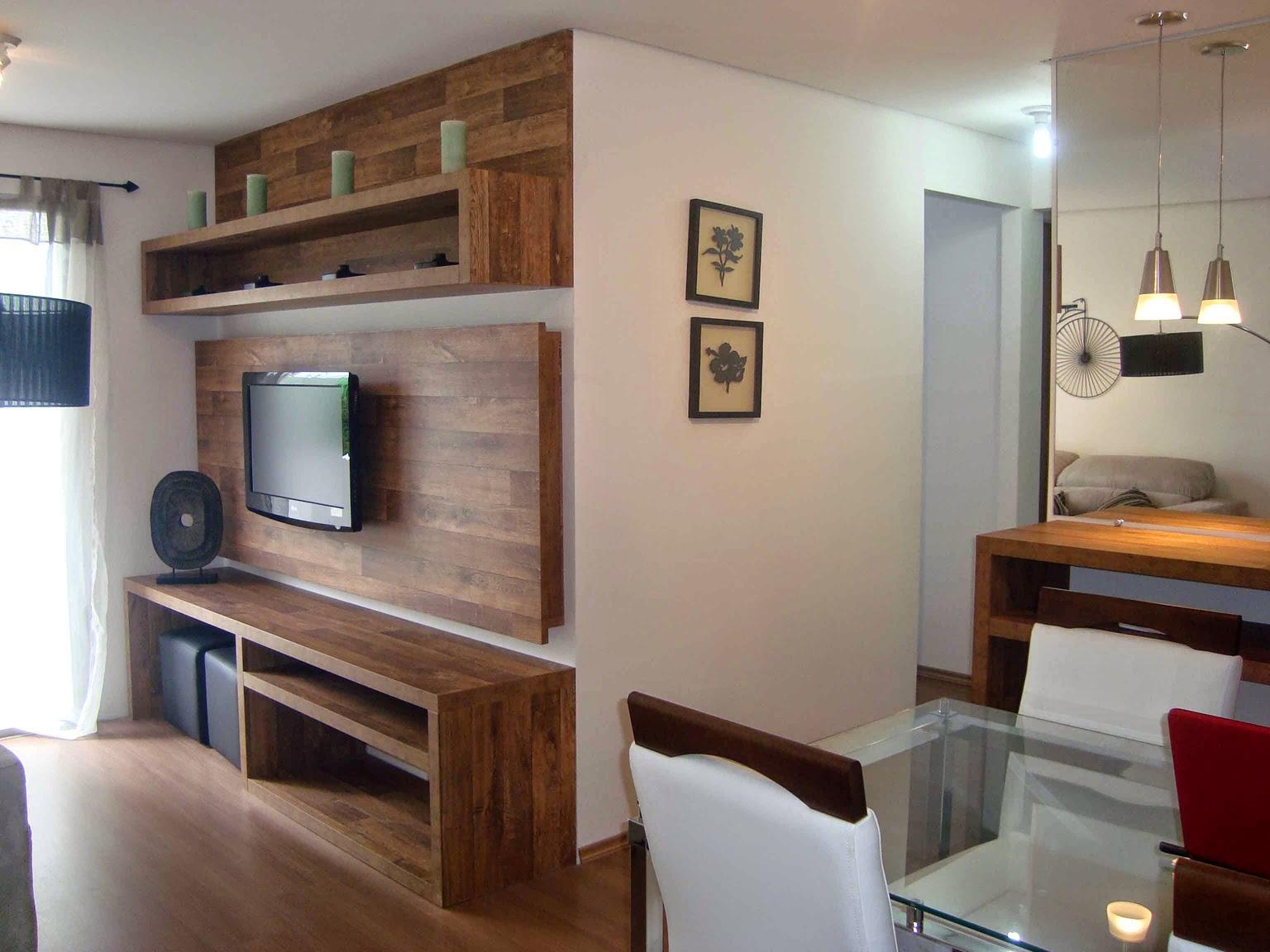 Minhacasanova sala painel de tv raque e estantes for Modelos de apartamentos modernos