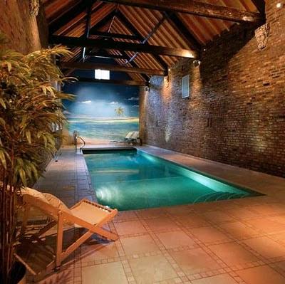 de fotos de como podemos disenar estas modernas piscinas con techo en