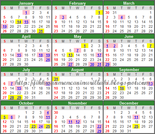 Chinese New Year 2014 Calendar