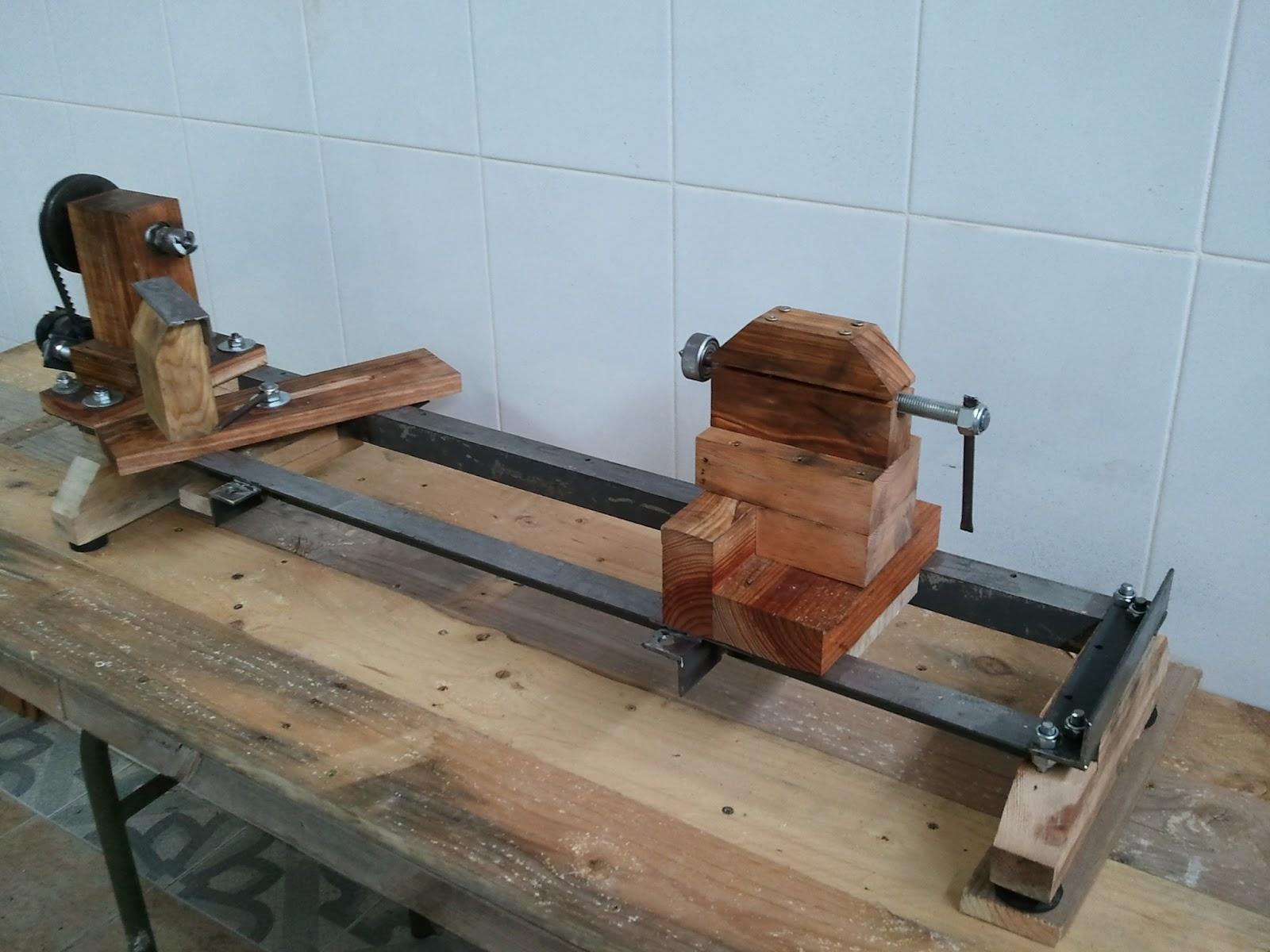 Torno casero artilugios en casa for Casas de madera para guardar herramientas