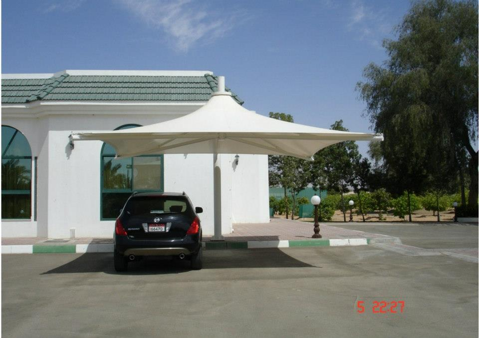 Single Pole Car Parking Shade In Abu Dhabi Supplier And