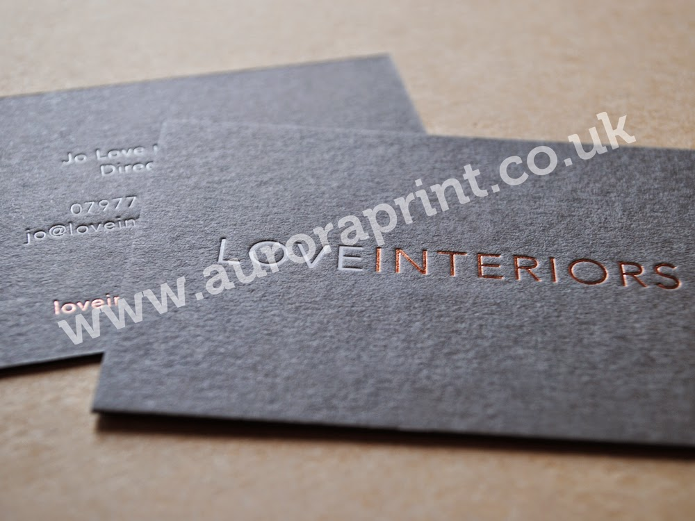 Rose gold and gloss white foiled Business Cards. | Hot Foil ...