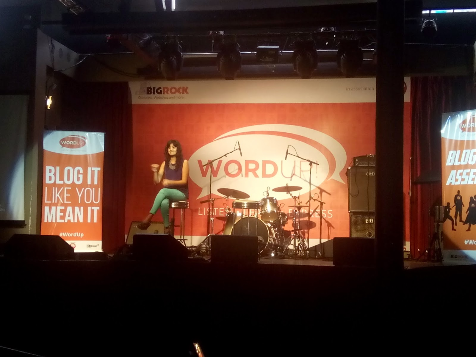 BigRock, IndiBlogger, WordUp, tea trunk