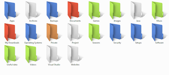 Customize folders in Windows with different colors