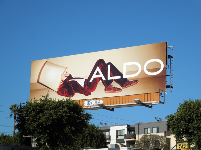 Aldo Shoes lampshade billboard FW 2012