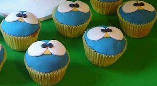 Cupcakes con Buhos y Lechuzas