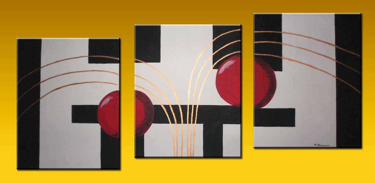 Cuadros tripticos texturados modernos muy decorativos - Cuadros muy modernos ...
