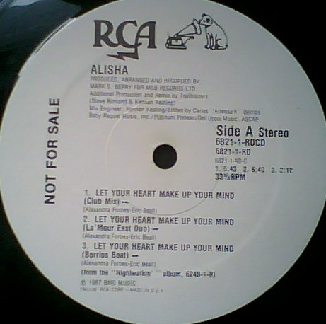 Rare and obscure music alisha for 1988 music charts
