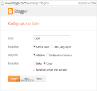 Konfigurasi widget label blogger jonarendra