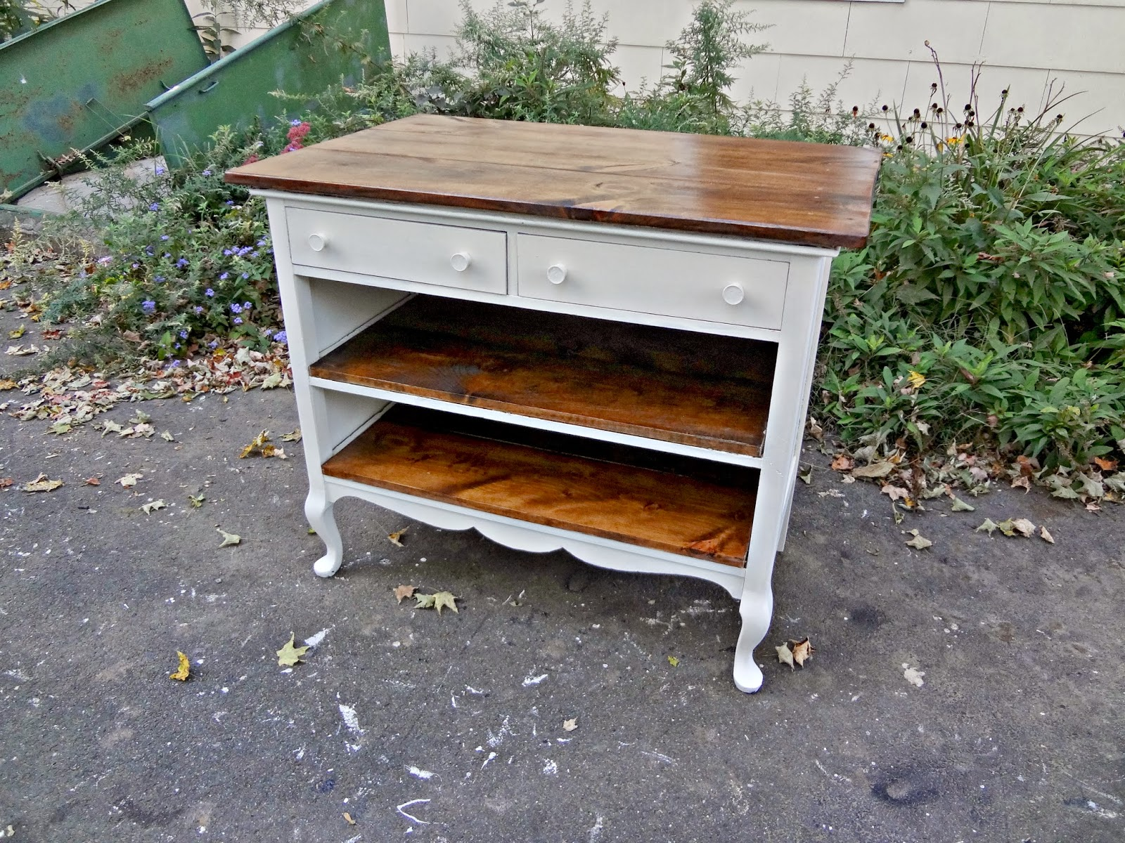 Heir and Space: Antique Dresser Turned Kitchen Island How To Make A Kitchen Island Out Of Dresser on