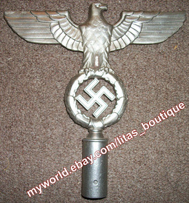 Nazi Eagle Flag Pole Top