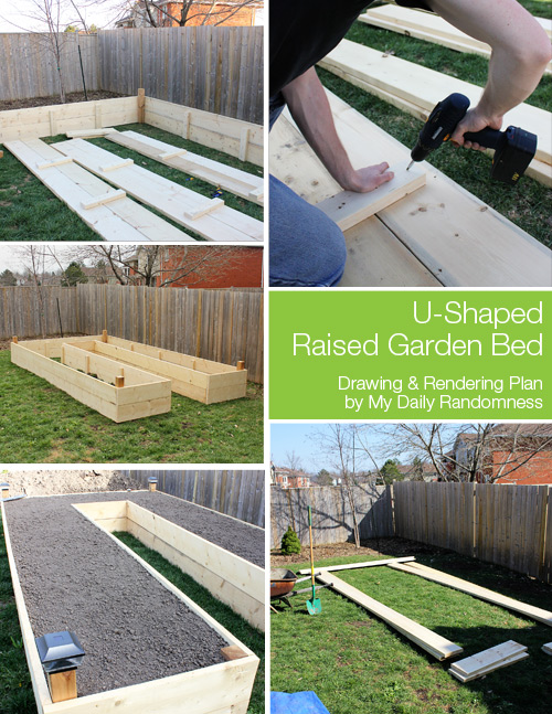 My daily randomness how to build a u shaped raised for Building a raised garden