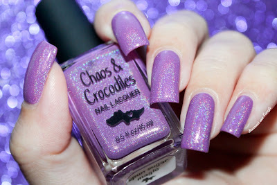 "Swatch of the nail polish ""Spun Sugar Magic"" from Chaos & Crocodiles"