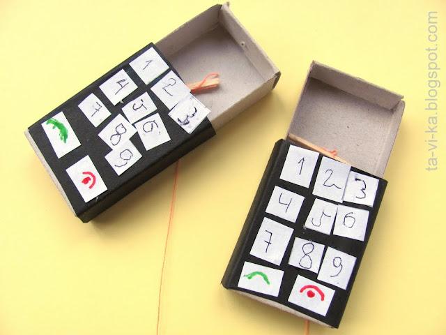 Как сделать телефон из ящика