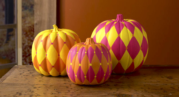 Harlequin Pumpkins from DIY Candy