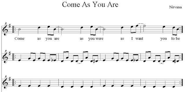 come as you are nirvana tab pdf