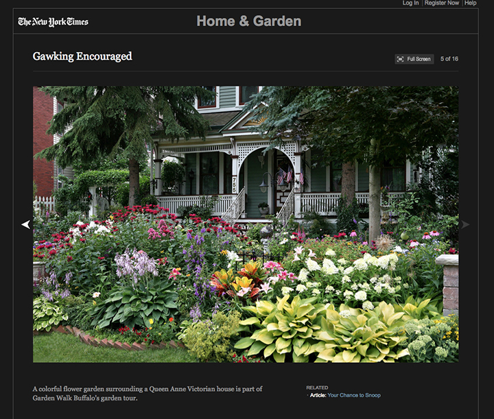 The New York Times Publishes A List Of Great Home Garden Tours That