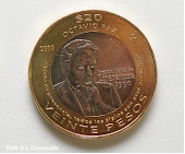MONEDA CONMEMORATIVA DE OCTAVIO PAZ