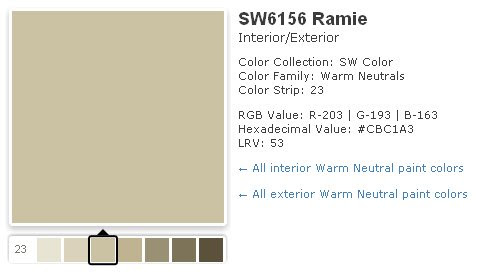 Sherwin williams studio taupe joy studio design gallery for Sherwin williams paint sample