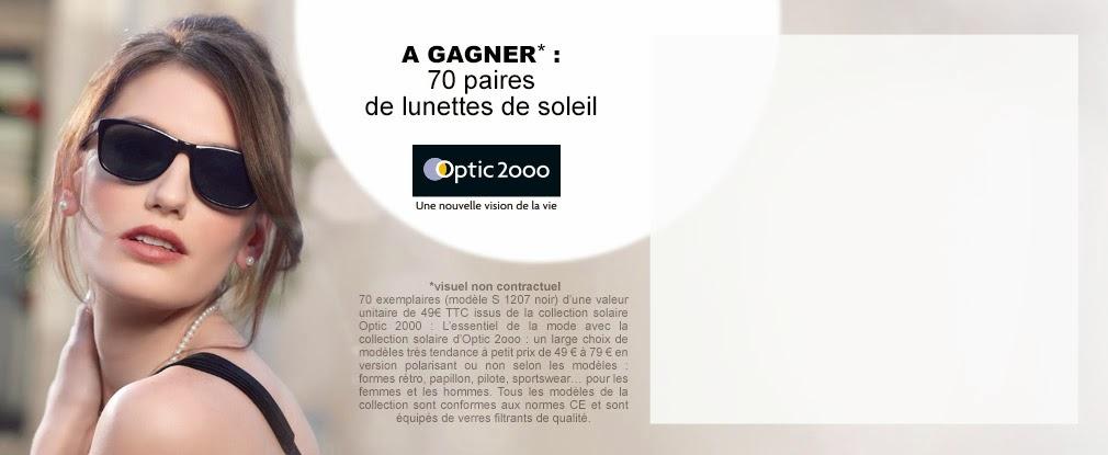 70 paires de lunettes de soleil Optic 2000