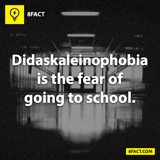 fact , Didaskaleinophobia is the fear of going to school.