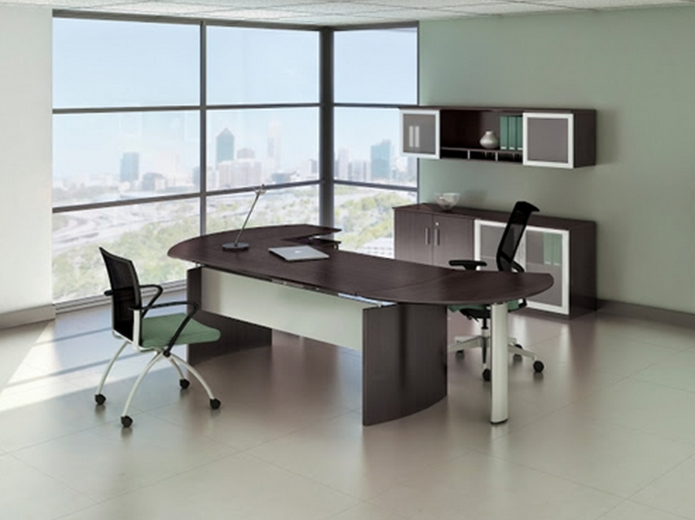 Mayline Medina Series Mocha Desk