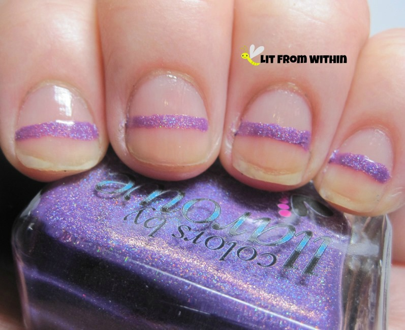 Colors by Llarowe Tank Tops and Flip Flops, a really pretty bright purple holo.