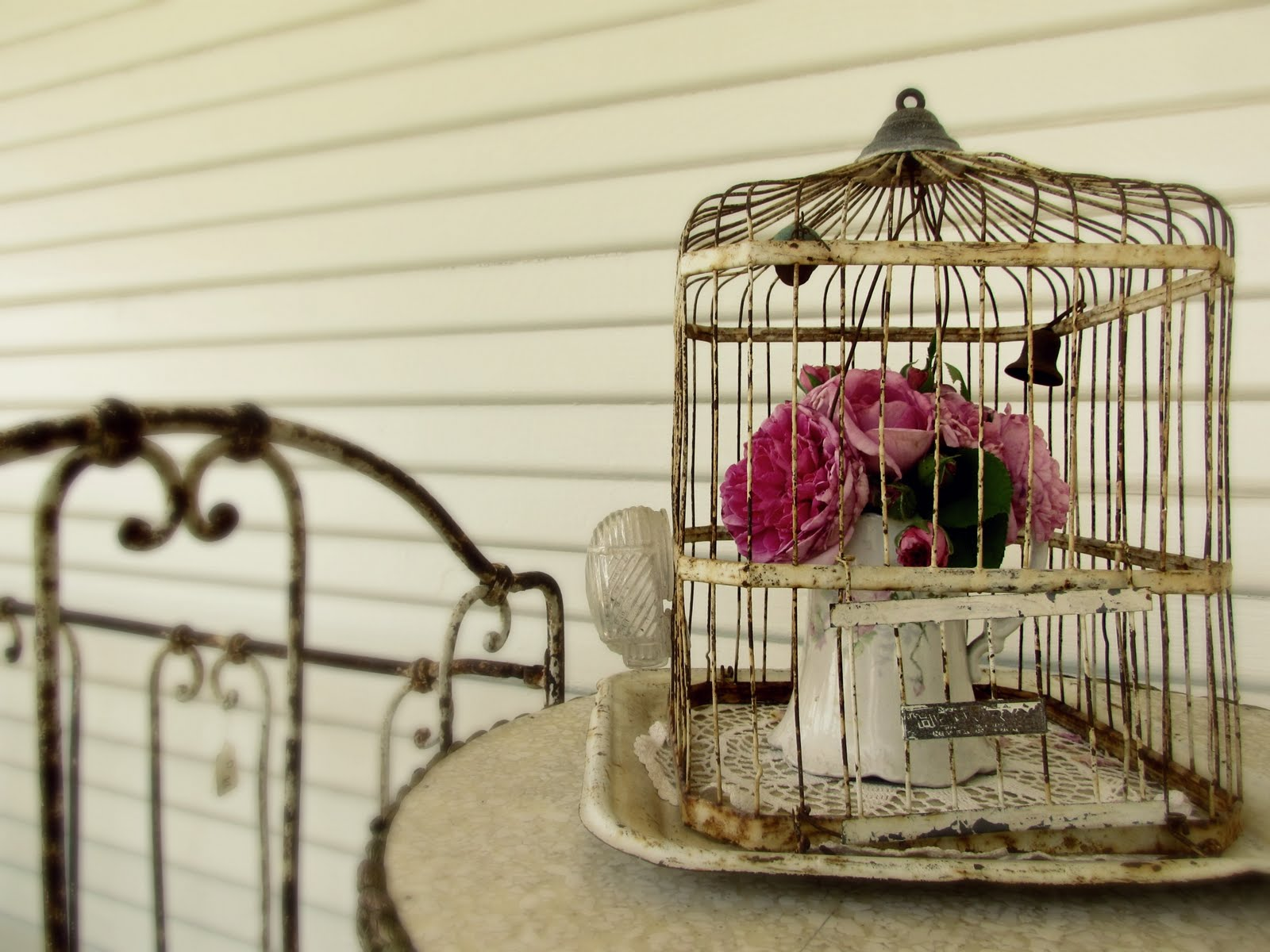 Romantic birdie cage