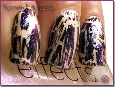 Avon Nailwear Pro Star, Laura Paige Black Crackle and CND Effects Sapphire Sparkle