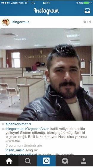 özgecan aslan katili selfie çekiyor