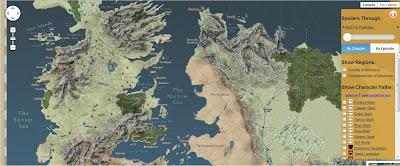 mapa interactivo de los viajes de los personajes  Juego de Tronos